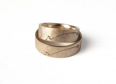 """Vestuviniai žiedai """"M"""""""