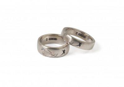 """Vestuviniai žiedai """"LJ Šokejai"""""""