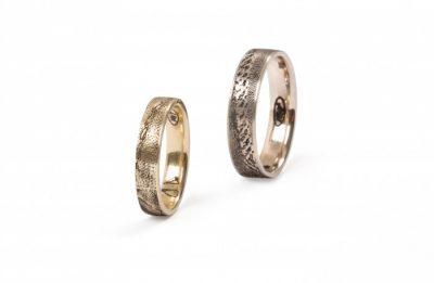 """Vestuviniai žiedai """"audinio ornamentu"""""""