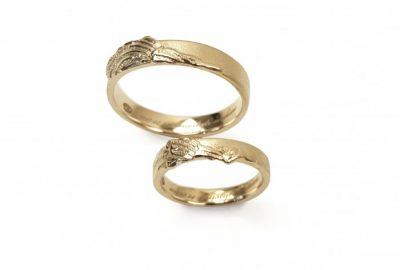 """Vestuviniai žiedai """"su Angelo sparnais"""""""