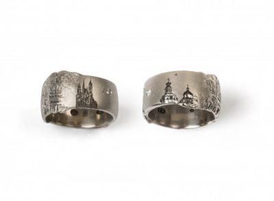 Vestuviniai žiedai su bažnyčiomVestuviniai žiedai su bažnyčiom