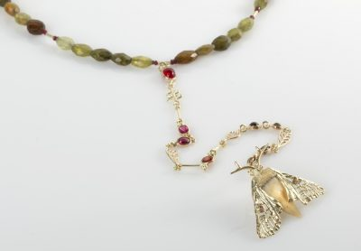Necklace Night butterfly