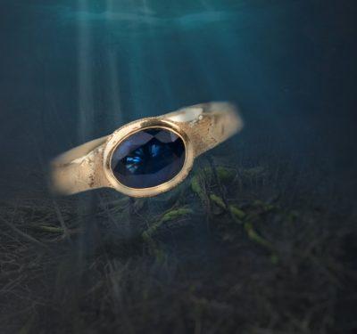 Žiedas Mėlynas gylis